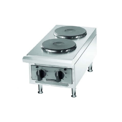 Toastmaster TMHPF Electric 2 Burner Countertop Hot Plate - Ceramic Elements
