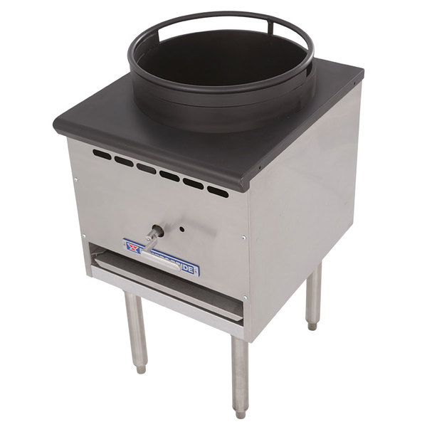 "Bakers Pride BPSP-18J-16 Restaurant Series Natural Gas Wok Range with 16"" Burner - 125,000 BTU"