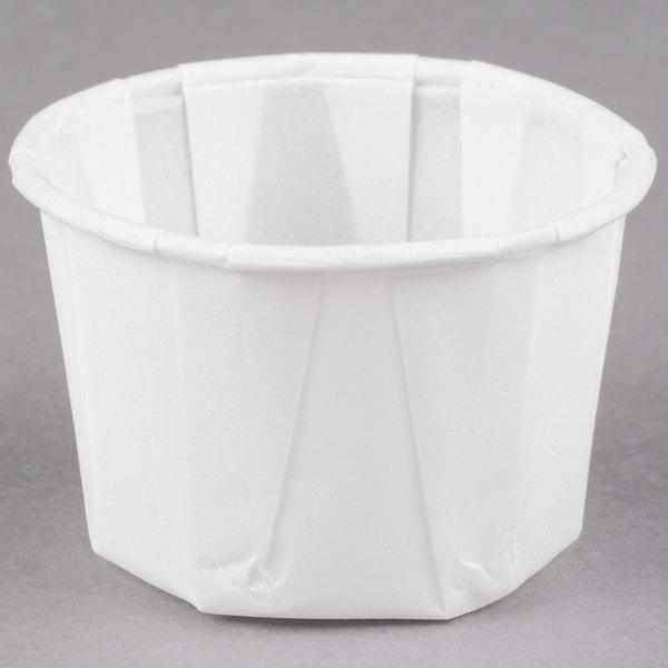 Dart Solo SCC125 1.25 oz. Paper Souffle / Portion Cup - 250/Pack