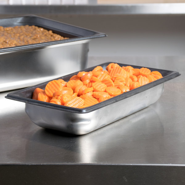 """Vollrath 90327 Super Pan 3® 1/3 Size Anti-Jam Stainless Steel SteelCoat x3 Non-Stick Steam Table / Hotel Pan - 2 1/2"""" Deep"""