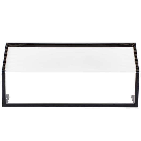 "Carlisle 924803 48"" x 12 1/2"" Black Adjustable Single Sneeze Guard for Five Star Buffet Bars"