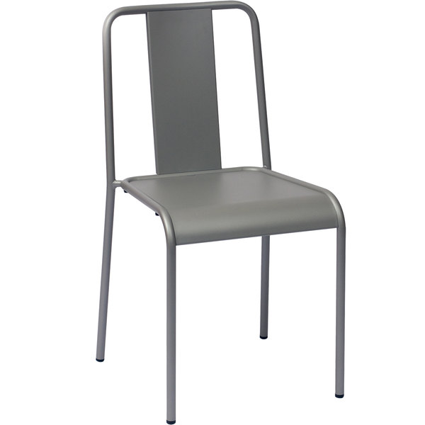 BFM Seating DV580TS Tara X Stackable Outdoor / Indoor E-Coated Steel Side Chair Main Image 1