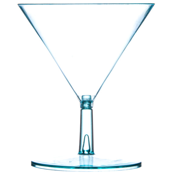 Fineline Tiny Temptations 6401-GRN 2 oz. Tiny Tini 2-Piece Green Plastic Glass - 12/Pack