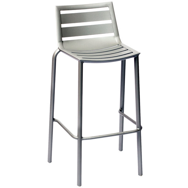 Bfm Seating Dv550ts South Beach Outdoor Indoor Stackable Aluminum Bar Height Chair