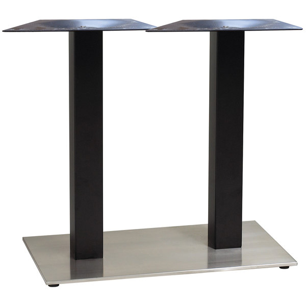 """Grosfillex US281009 Indoor Contemporary 16"""" x 28"""" Double Pedestal Table Base"""