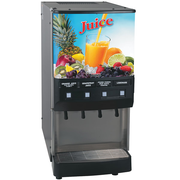 Bunn 37300.0002 JDF-4S 4 Flavor Cold Beverage Juice Dispenser with Cold Water Tap Main Image 1