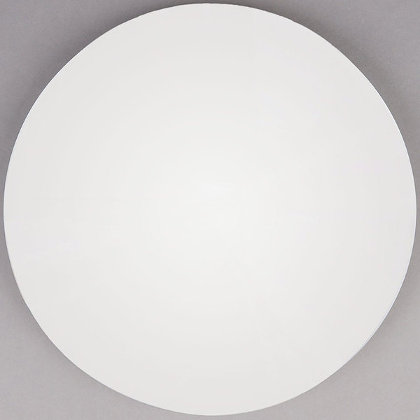"Grosfillex 99831204 30"" White Indoor Round Molded Melamine Tabletop"