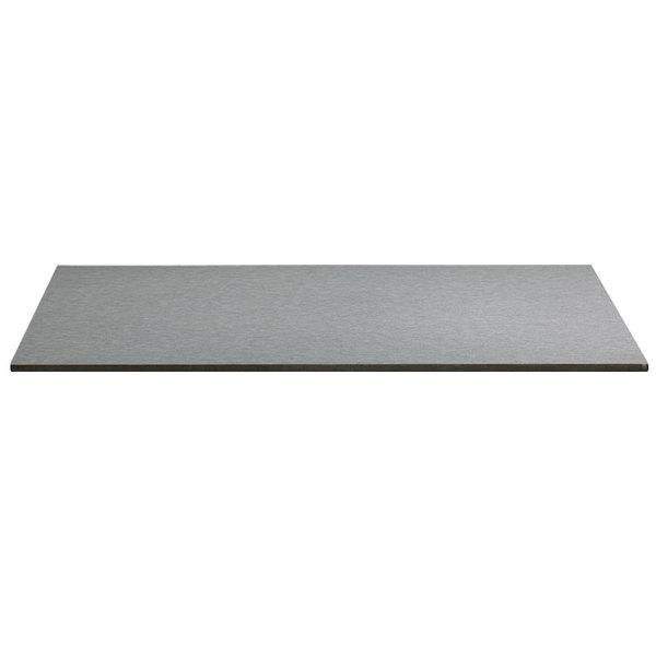 "Grosfillex US63HP44 Indoor HPL 36"" x 36"" Tabletop - Brushed Aluminum Main Image 1"