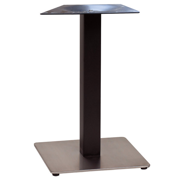 """Grosfillex US181009 Indoor Contemporary 18"""" x 18"""" Square Pedestal Table Base"""