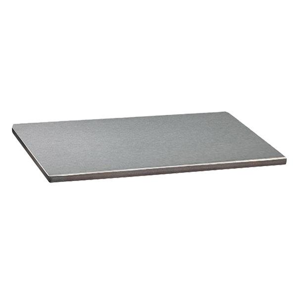 "Grosfillex US30HP44 Indoor HPL 30"" x 30"" Brushed Aluminum Tabletop"