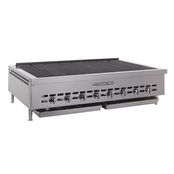 Bakers Pride G1087X Countertop Charbroiler Stainless Steel Work Deck