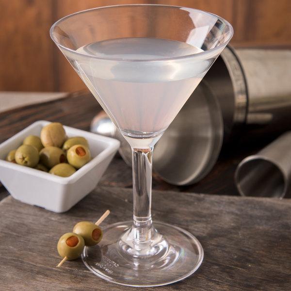 Carlisle 4362707 Liberty 8 oz. Plastic Martini Glass - 24/Case