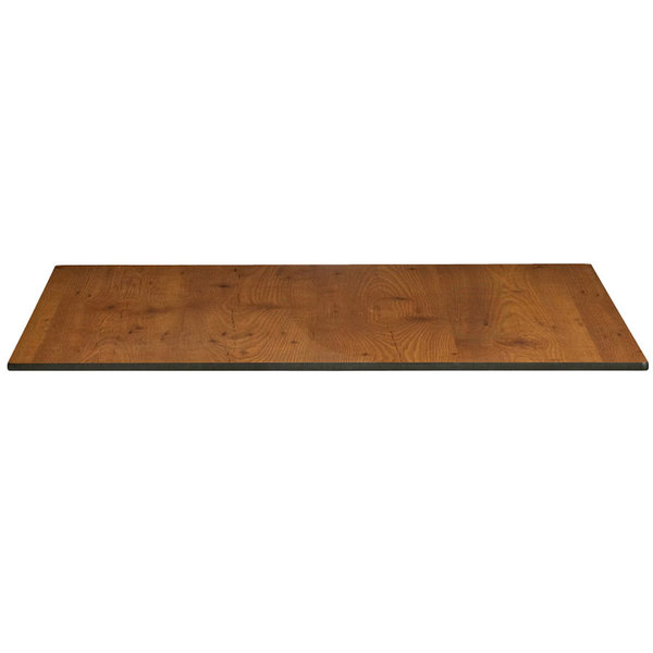 "Grosfillex US63HP92 Indoor HPL 36"" x 36"" Tabletop - Pine"
