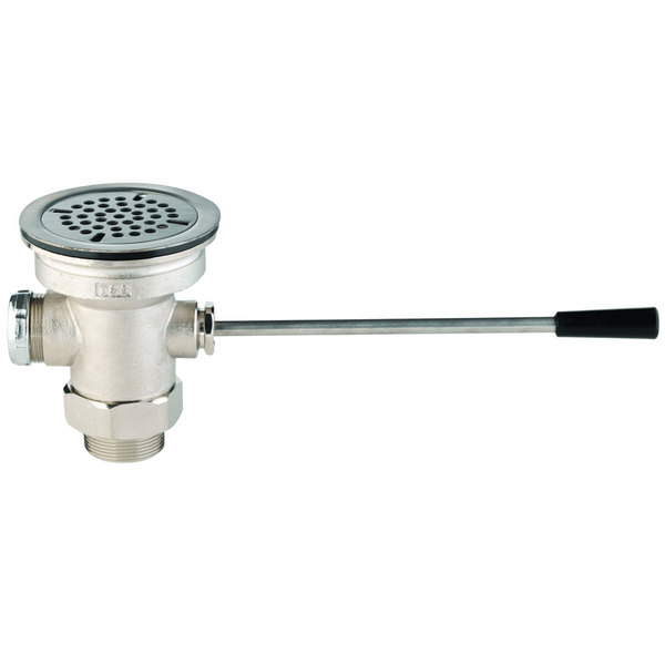 """T&S B-3962-XS Waste Drain Valve with Short Lever Handle and 3"""" Sink Opening Main Image 1"""