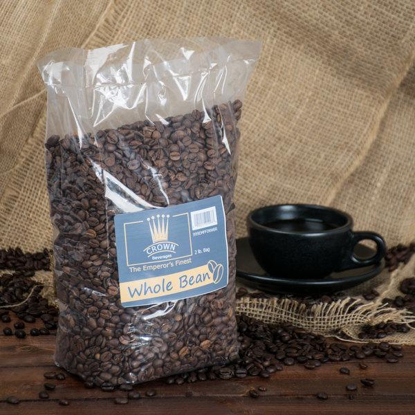 Crown Beverages Emperor's Finest Whole Bean Coffee 2 lb. Bag - 5/Case