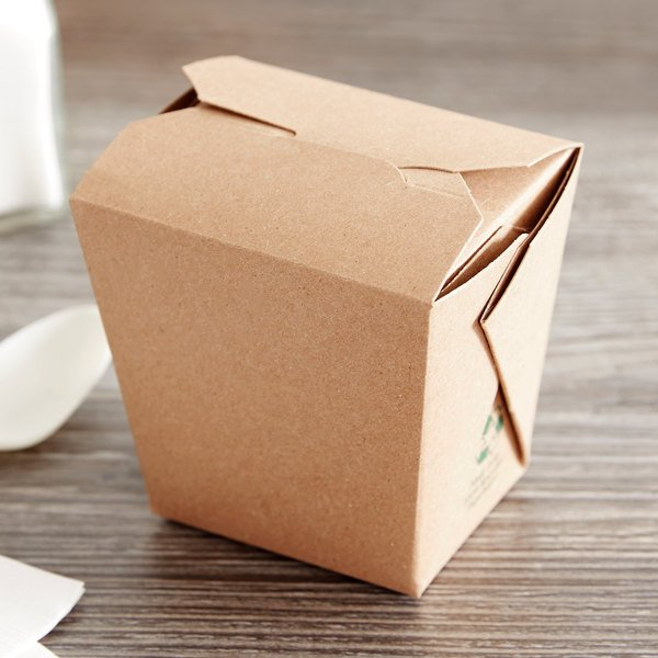 Fold-Pak Earth 16MWEARTHM 16 oz. Microwaveable Paper Take-Out Container - 50/Pack Main Image 4