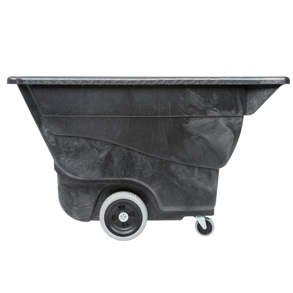Rubbermaid FG9T1300BLA Black 0.5 Cubic Yard Tilt Truck (450 lb.)