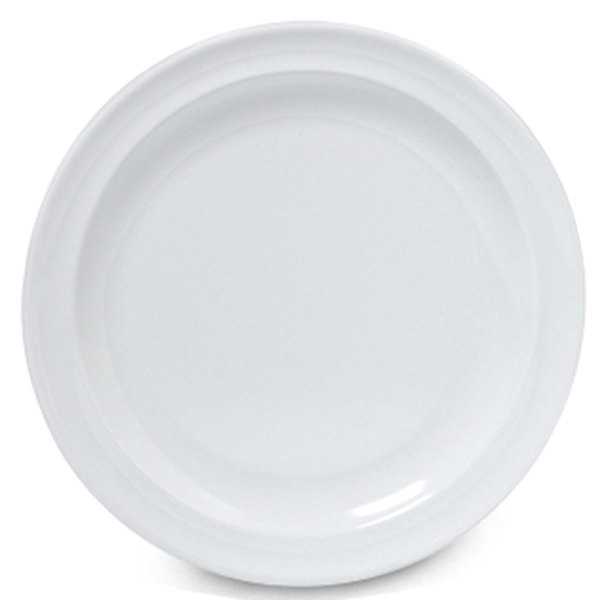 "GET DP-506-W White 6 1/2"" SuperMel Plate - 48/Case"