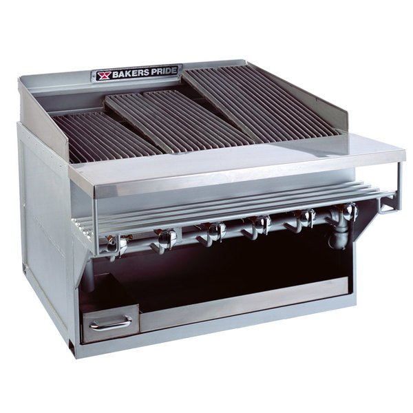 "Bakers Pride CH-12GS Natural Gas 65"" 12 Burner Heavy Duty Glo-Stone Charbroiler - 216,000 BTU Main Image 1"