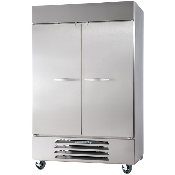 "Beverage Air HBF49-1-S 52"" Horizon Series Two Section Solid Door Reach-In Freezer - 49 cu. ft."