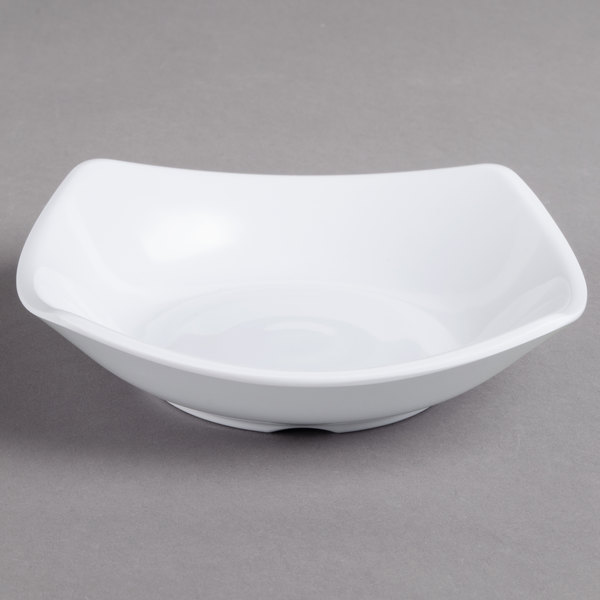 Carlisle 794202 White 5 oz. Square Melamine Dish - 48/Case