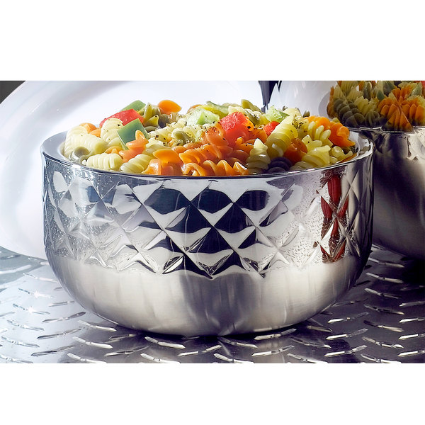 Bon Chef 9317DI Diamond Collection Cold Wave 0.75 Qt. Triple Wall Bowl with Cover Main Image 2