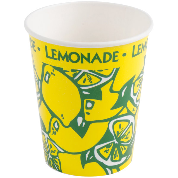 16 oz. Squat Paper Lemonade Cup - 1000/Case