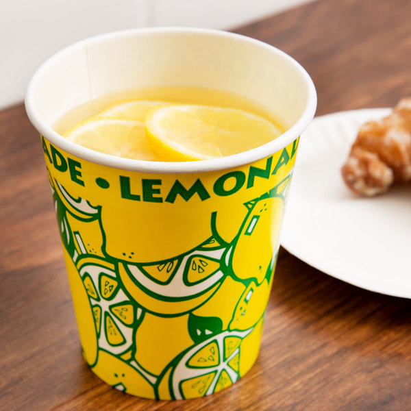 16 oz. Squat Paper Lemonade Cup - 1000/Case