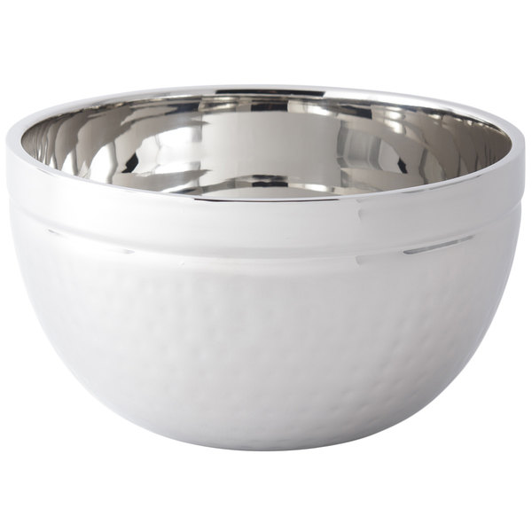 Bon Chef 61245 5 Qt. Hammered Finish Double Wall Bowl
