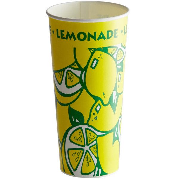 24 oz. Tall Paper Lemonade Cup - 1000/Case