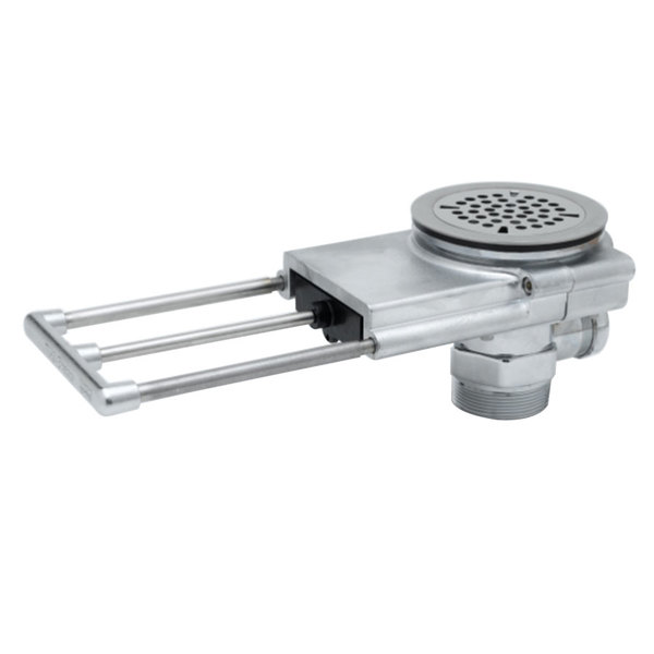 "T&S B-3990-01-3X Modular Waste Drain Valve with Pull Handle, 3 1/2"" Sink Opening, and Overflow Main Image 1"