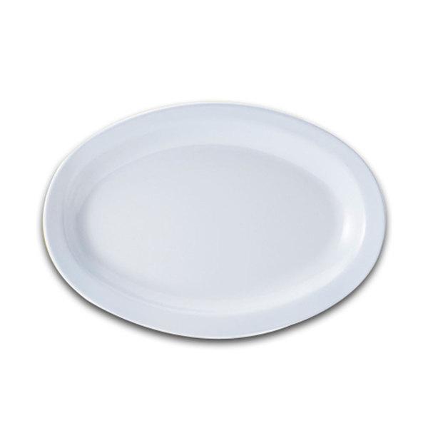 "GET OP-610-W White 10"" SuperMel Platter - 24/Case"