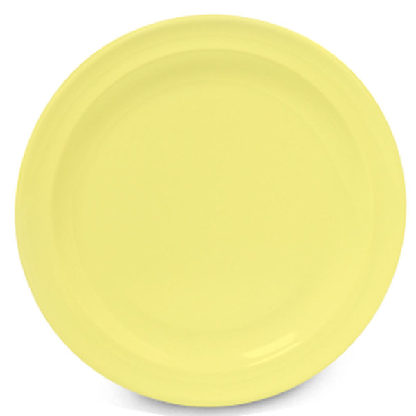 "GET DP-506-Y Yellow 6 1/2"" SuperMel Plate - 48/Case"