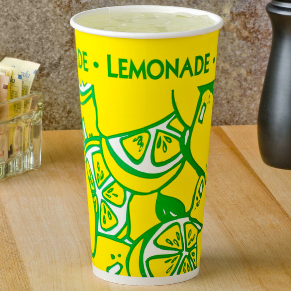 20 oz. Tall Paper Lemonade Cup - 1000/Case Main Image 2