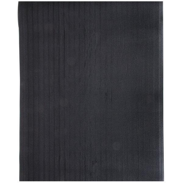 Cactus Mat 1027-C35 Tredlite 3' x 5' Black Ribbed Vinyl Anti-Fatigue Mat - 3/8 inch Thick
