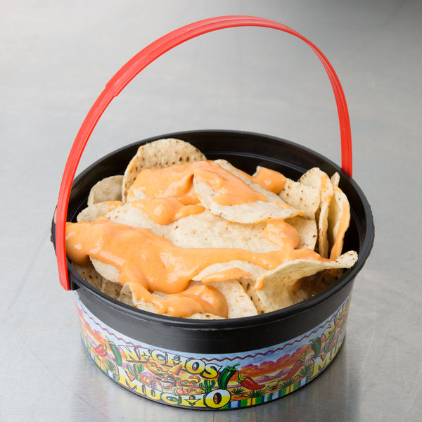24 oz. Plastic Nachos Mucho Bucket - 200/Case Main Image 3