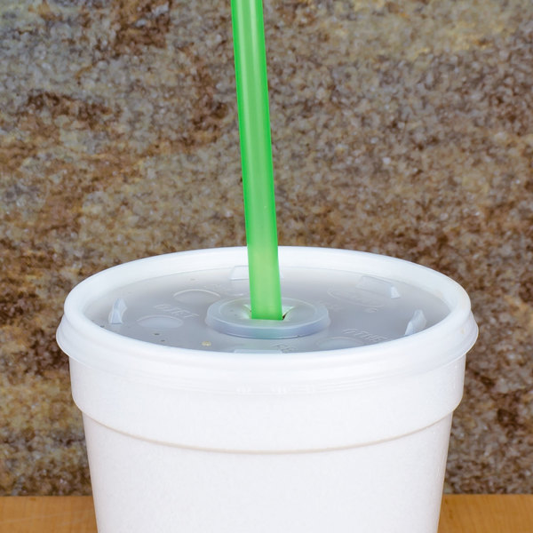 "10"" Green Unwrapped Straw - 500/Pack"
