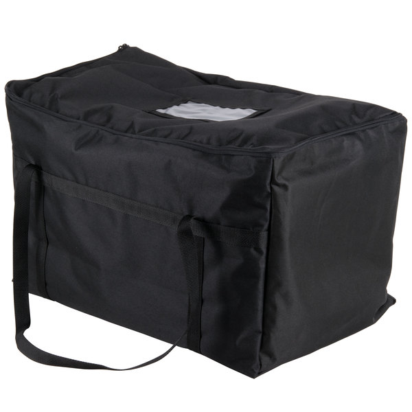 "Insulated Food Carrier, Black Nylon, 22"" x 12"" x 12"""