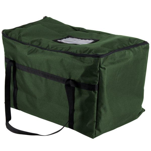 "Insulated Food Carrier, Green Nylon, 22"" x 12"" x 12"""