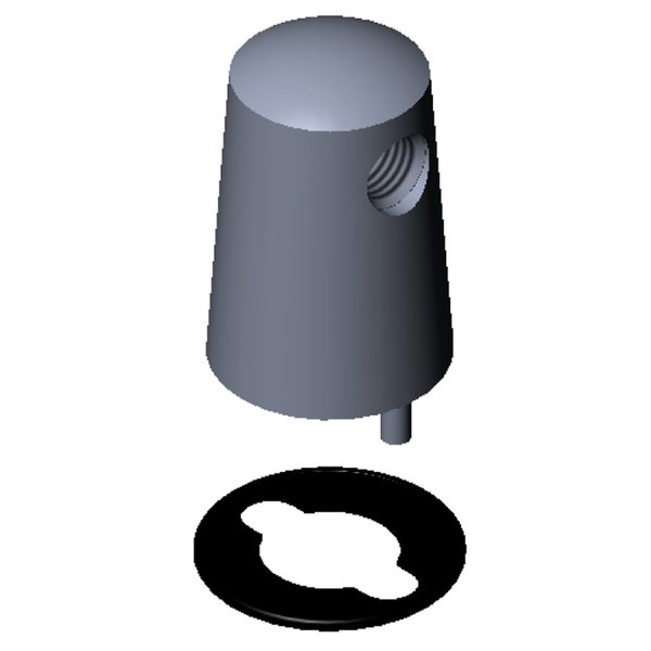 T&S BL-4102-02 Vandal Resistant Gas Turret with Two 180 Degree Outlets