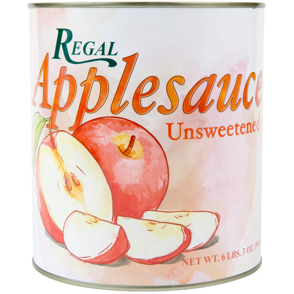 Regal Foods #10 Can Unsweetened Apple Sauce - 6/Case