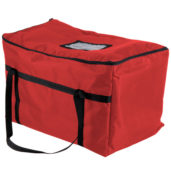"Insulated Food Carrier, Red Nylon, 22"" x 12"" x 12"""