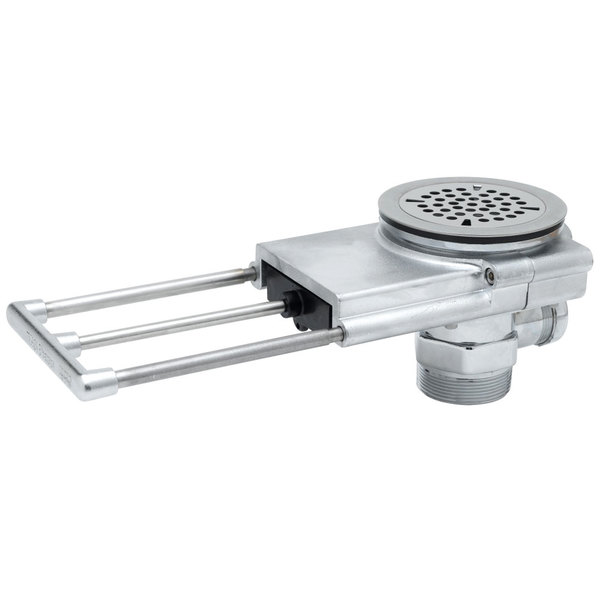 """T&S B-3992-3X Modular Waste Drain Valve with Pull Handle, 3"""" Handle Extension, and 3 1/2"""" Sink Opening Main Image 1"""