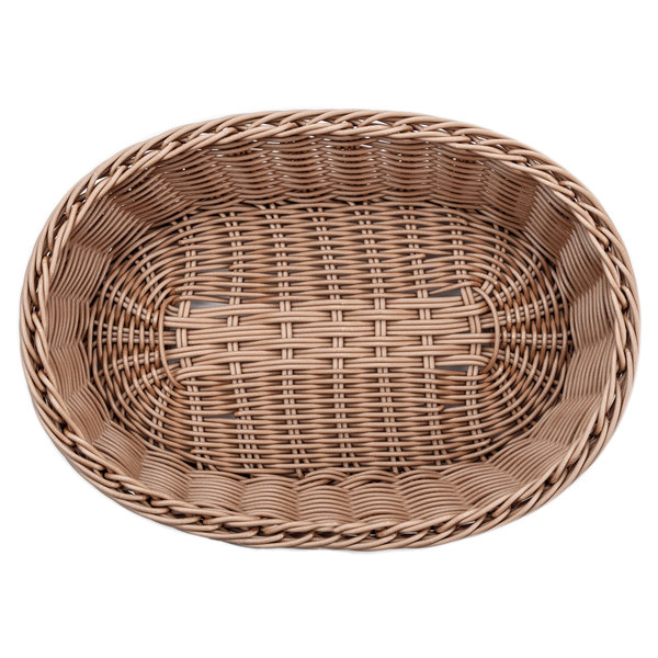 Carlisle 655125 Brown 12 X 8 Woven Oval Basket 6 Case