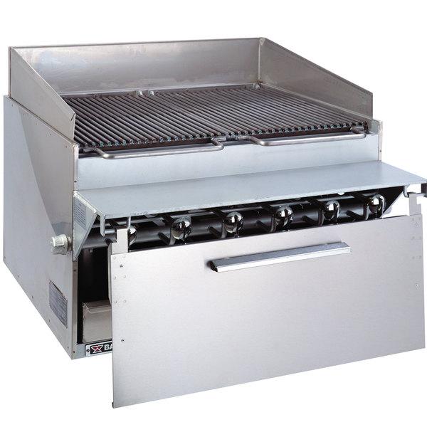 "Bakers Pride CH6-J Natural Gas 36 1/2"" 6 Burner Cajun Style Radiant Charbroiler - 108,000 BTU Main Image 1"