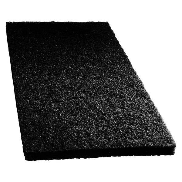 "Scrubble by ACS 72-14 14"" x 20"" Black Stripping Floor Pad - Type 72 - 5/Case"