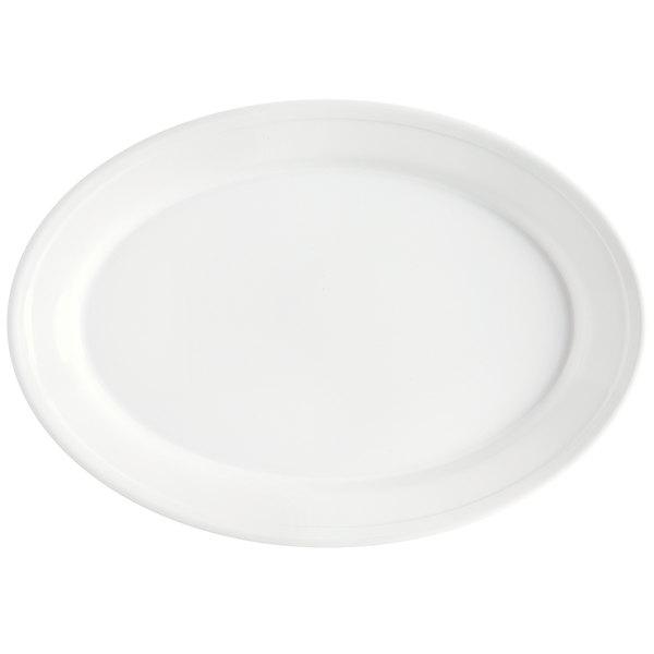 "GET OP-912-W White 12"" SuperMel Oval Platter - 24/Case"