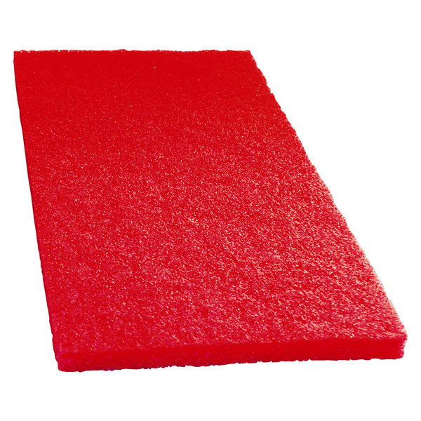 """Scrubble by ACS 51-14x20 14"""" x 20"""" Red Buffing Floor Pad - Type 51 - 5/Case"""