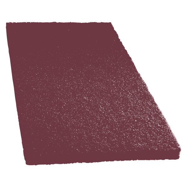 """Scrubble by ACS 47-14x20 14"""" x 20"""" Maroon Thin Line Conditioning / Surface Preparation Floor Pad - Type 47 - 10/Case"""