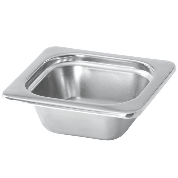 """Vollrath 8262205 Miramar® 1/6 Size Satin-Finished Stainless Steel Steam Table Food Pan - 2 1/2"""" Deep Main Image 1"""